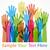 raised hands color stock photo © creator76