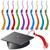 groene · afstuderen · hoeden · afbeelding · ontwerp · achtergrond - stockfoto © cteconsulting