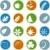 einfache · grünen · Symbole · Web-Design · Blumen - stock foto © cteconsulting