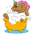 dog taking a bubble bath stock photo © cteconsulting