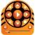 vídeo · ícones · laranja · filme · assinar · filme - foto stock © cteconsulting