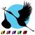 gólya · baba - stock fotó © cteconsulting