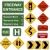 verde · rodovia · seta · isolado · branco · estrada - foto stock © cteconsulting