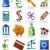 vector · zestien · icon · Blauw · witte · ontwerp - stockfoto © cteconsulting