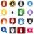 セット · ヘルメット · ウェブ · ボール · ホイール · ゲーム - ストックフォト © cteconsulting