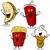 fast · food · cheeseburger · drinken · illustratie · clipart · afbeelding - stockfoto © cteconsulting