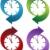 klok · icon · ontwerp · 7 · dagen · week · geïsoleerd - stockfoto © cteconsulting