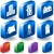set of 3d building icons stock photo © cteconsulting
