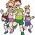 esecuzione · joggers · persone · gruppo · sagome · fitness · gruppo - foto d'archivio © cteconsulting