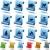 animais · animais · de · estimação · vetor · silhuetas · colorido - foto stock © cteconsulting