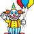 cartoon · clown · ballonnen · gelukkig · bos · partij - stockfoto © cthoman