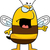 zangado · abelha · desenho · animado · ilustração · grandes · olhos · cara - foto stock © cthoman