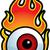 flaming eyeball stock photo © cthoman