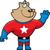 スーパーヒーロー · 幸せ · 漫画 · 笑みを浮かべて · 男 - ストックフォト © cthoman