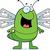feliz · desenho · animado · libélula · ilustração · olhando - foto stock © cthoman