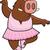 dzik · baleriny · szczęśliwy · cartoon · dance · wieprzowych - zdjęcia stock © cthoman