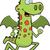 lagarto · corrida · feliz · desenho · animado · sorridente · verde - foto stock © cthoman