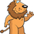 lion waving stock photo © cthoman