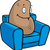paresseux · canapé · de · pomme · de · terre · embonpoint · Homme · séance - photo stock © cthoman