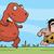 hombre · dinosaurio · cavernícola · Cartoon · animales · naturaleza - foto stock © cthoman