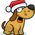 christmas · hond · gelukkig · cartoon - stockfoto © cthoman