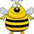 glimlachend · bee · gelukkig · uit · bijenkorf · Geel - stockfoto © cthoman