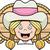 gülen · mutlu · karikatür · ayakta · şapka · silahlar - stok fotoğraf © cthoman