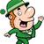 漫画 · 笑みを浮かべて · アイルランド · 男 · クローバー - ストックフォト © cthoman