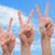 groep · zakenlieden · armen · gelukkig · witte · vrouw - stockfoto © cursedsenses