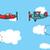 desenho · animado · grande · avião · avião · céu - foto stock © curvabezier