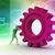 3D · mały · ludzi · zespołu · mechanizm · wielobarwny - zdjęcia stock © cuteimage