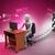 3D · trabalhando · escritório · papel · homem · trabalhar - foto stock © cuteimage