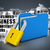 trancado · dobrador · 3D · gerado · quadro · amarelo - foto stock © cuteimage