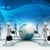 3D · üzletember · személyek · földgömb · Föld · internet - stock fotó © cuteimage