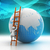 Earth globe and ladder stock photo © cuteimage