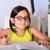 little cute girl doing homework stock photo © cwzahner