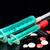 таблетки · оранжевый · три · различный · синий · шприц - Сток-фото © cwzahner