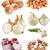 cebolas · alho · coleção · ecológico · isolado · branco - foto stock © cynoclub