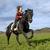 equitación · nina · negro · semental · naturaleza · mujer - foto stock © cynoclub