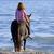 paard · vrouw · zee · hengst · paardrijden · water - stockfoto © cynoclub