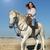 strand · paard · vrouw · hengst · paardrijden · kinderen - stockfoto © cynoclub