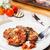 délicieux · blanche · plaque · table · alimentaire · pétrolières - photo stock © cypher0x