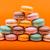 セット · マカロン · オレンジ · 孤立した · 食品 · 青 - ストックフォト © cypher0x