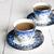 bleu · blanche · table · en · bois · fleurs · feuille - photo stock © cypher0x