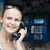 attractive woman using a public telephone stock photo © d13