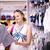 anya · vásárlás · ruházat · vonzó · fiatal · kiskereskedelem - stock fotó © d13