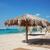 praia · guarda-chuvas · dois · em · pé · oceano · costa - foto stock © d13