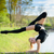 rhythmic gymnast girl exercising with ribbon outdoor stock photo © d13