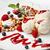 baunilha · sorvete · framboesas · fresco · pequeno - foto stock © d13