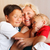 Happy grandmother hugging with her grandsons stock photo © d13